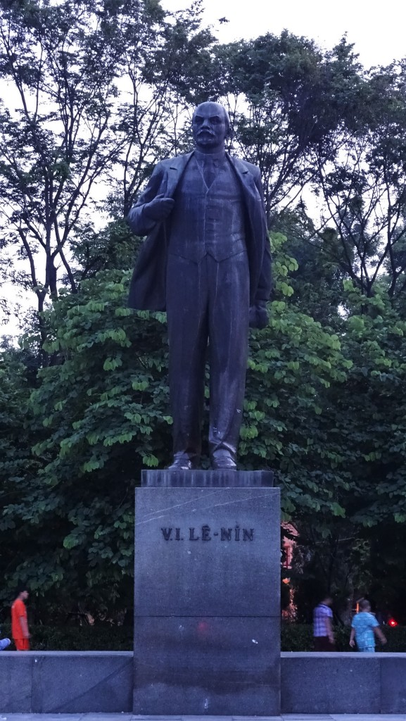 Statue of Lenin in a park in Hanoi