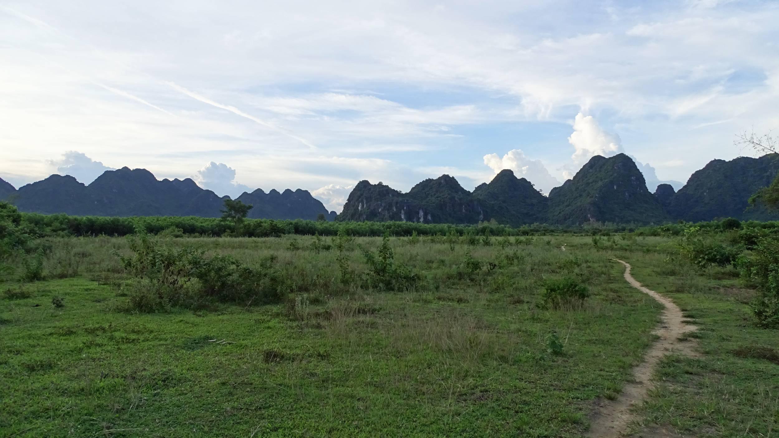Comb-shaped karst rocks in Phong Nha Ke Bang
