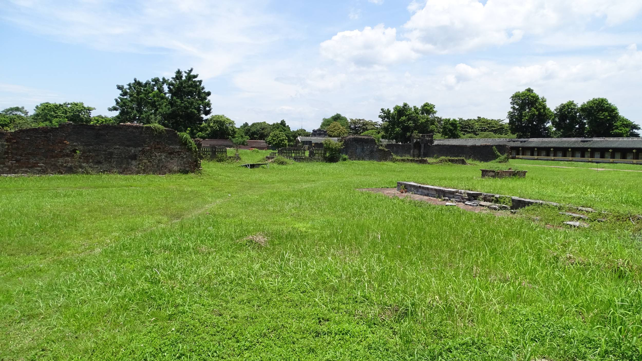 The ruined parts of the Imperial City in Hue