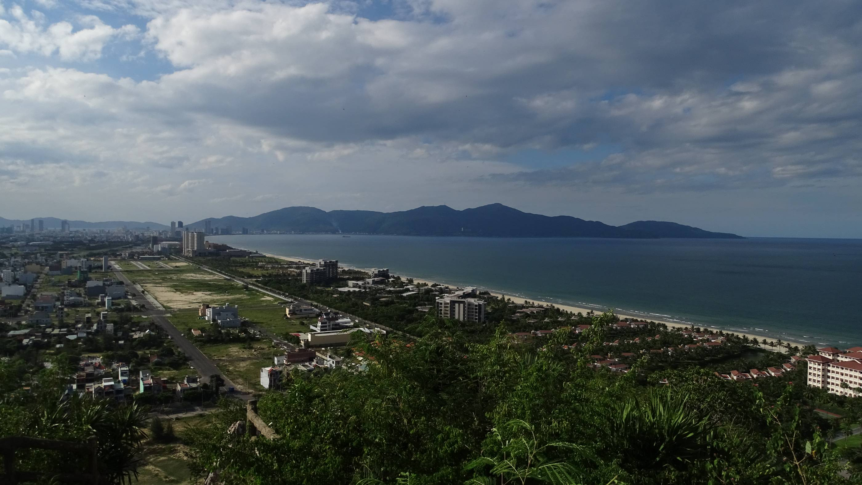 The panoramic views of the sea and Da Nang city from the viewpoint on the top of Water Mountain
