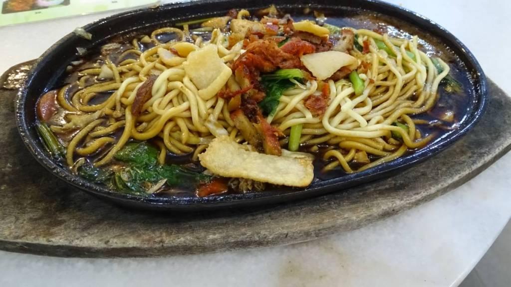 Malaysian hot plate noodles, vegan