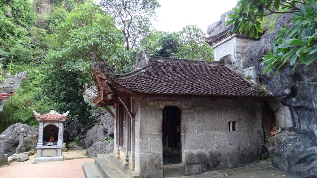 Small stone temple at Bich Dong complex
