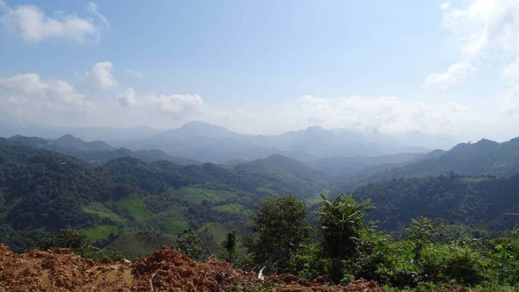 A mountain landscape in Laos, on the road from Sam Neua to Phonsavan