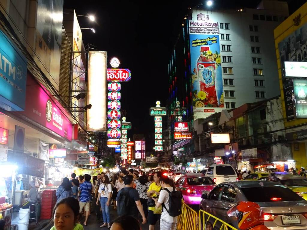 Night market in the streets of Bangkok, Thailand