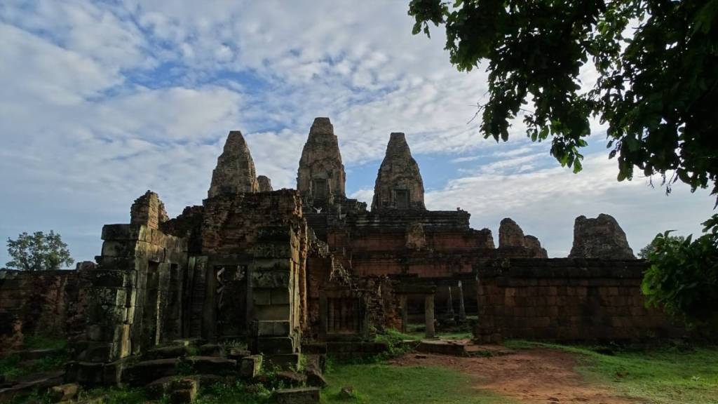 Preh Rup - a pyramid style Khmer temple with three towers, belonging to the complex of Angkor Wat