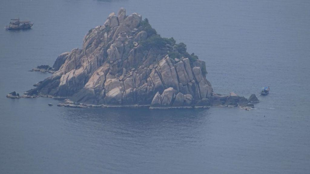 Small rocky Shark Island off Koh Tao's east coast