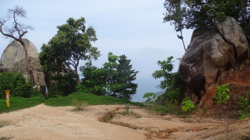 Path leading towards viewpoint while hiking in Koh Tao