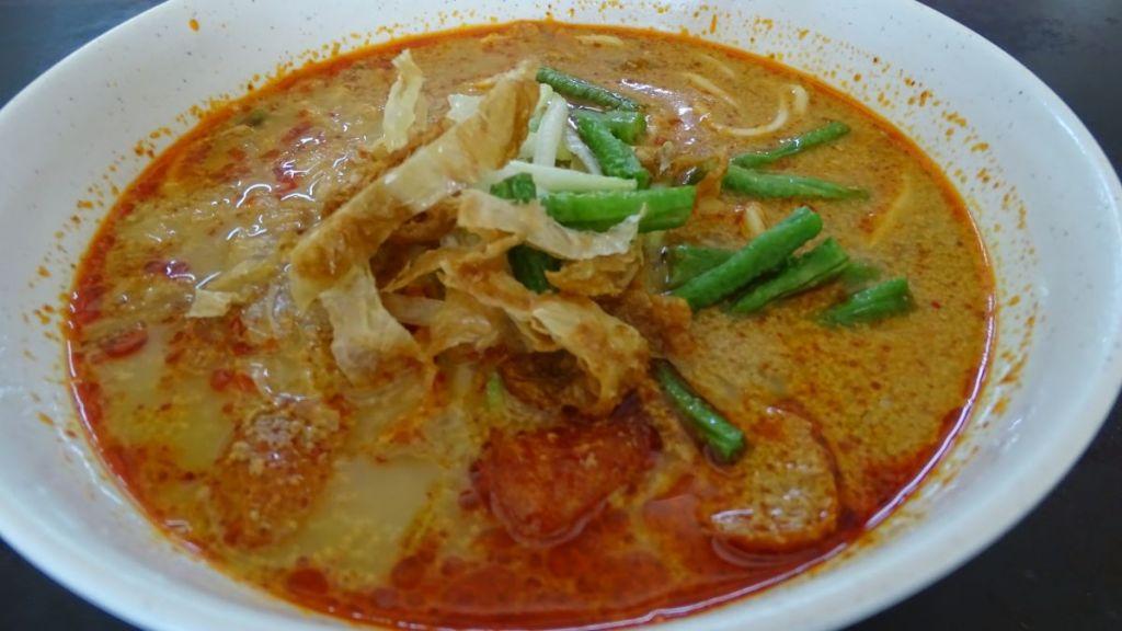 Laksa: spicey, coconut milk based soup, a signature Malaysian dish