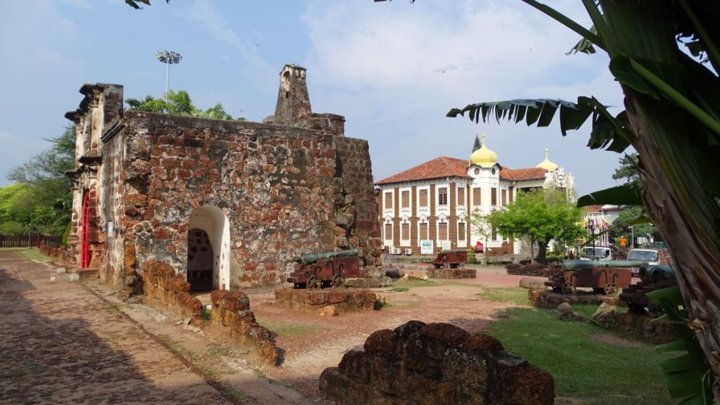 Remnants of the Portuguese fortress in Malacca, Malaysia