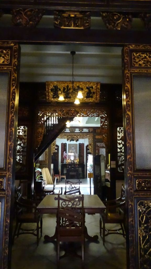 Richly decorated interior of Baba Nyonya Museum