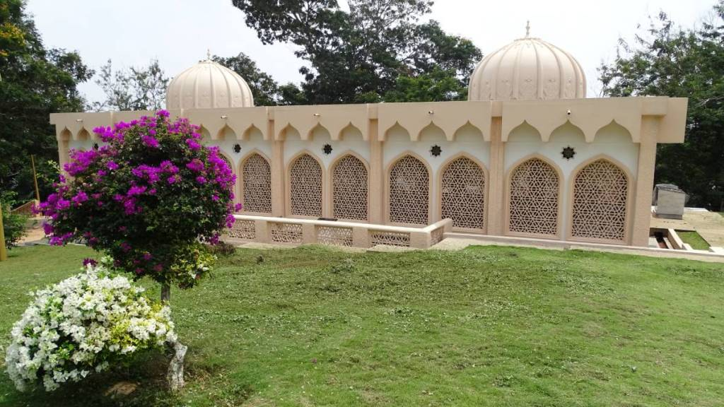 A domed tomb of sultan of Selangor at the Malawati Hill decorated with screened, arched windows