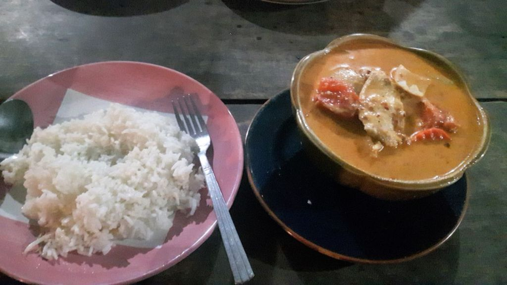 massaman curry at a budget restaurant in Koh Tao