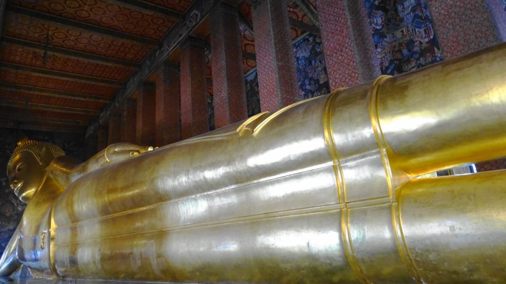 Giant reclining Buddha in Wat Pho,Bangkok