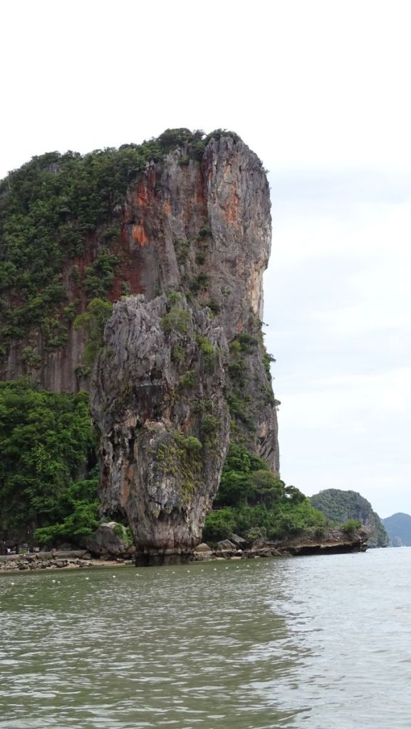 Karst formations in the James Bond island from the boat