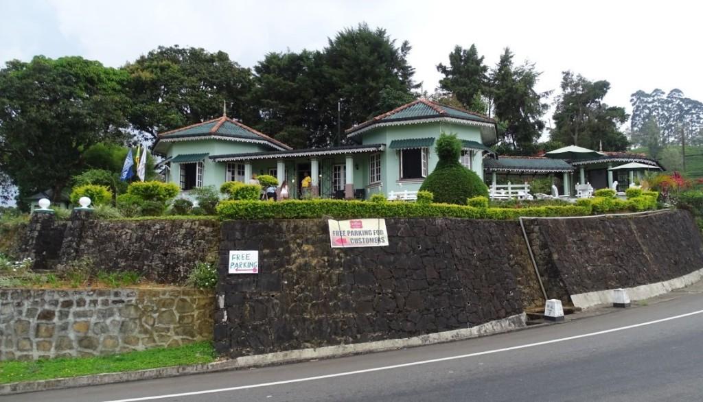 A British style bungalow housing St Clair's tea centre near Devon Falls viewpoint