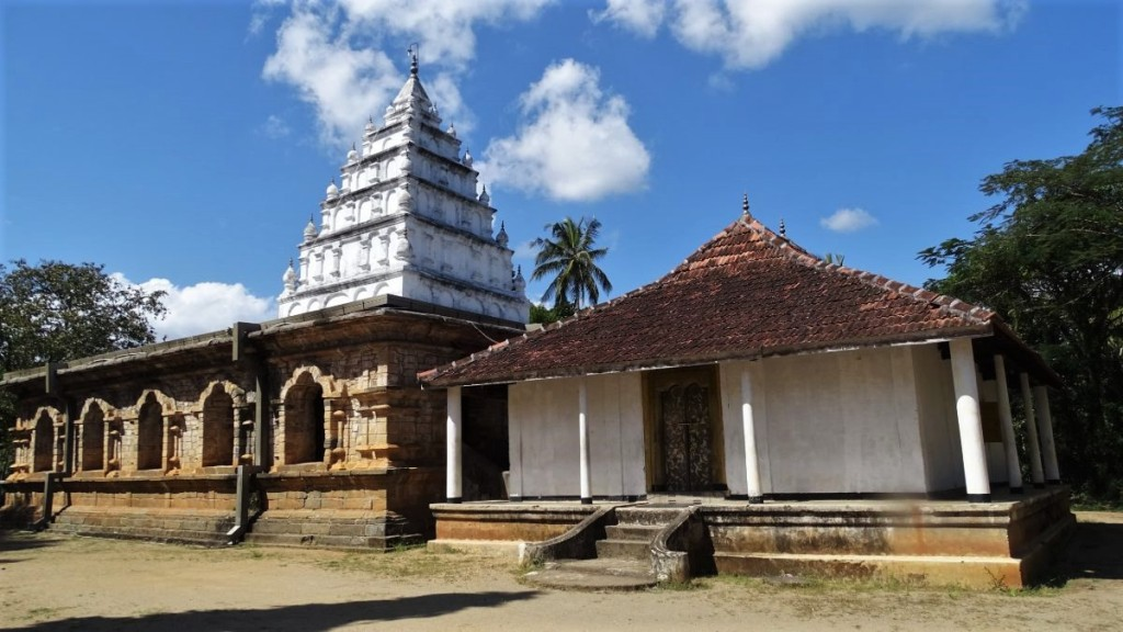 A pyramid tower of Gamalduwa temple near Kandy inspired with Tamil architecture