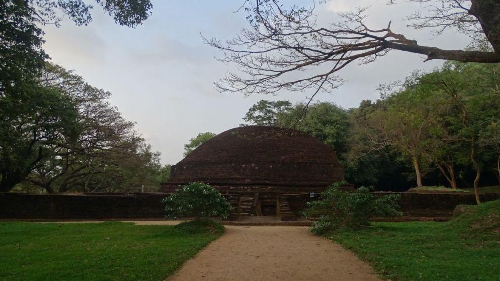 A brick Buddhist stupa in Dambulla