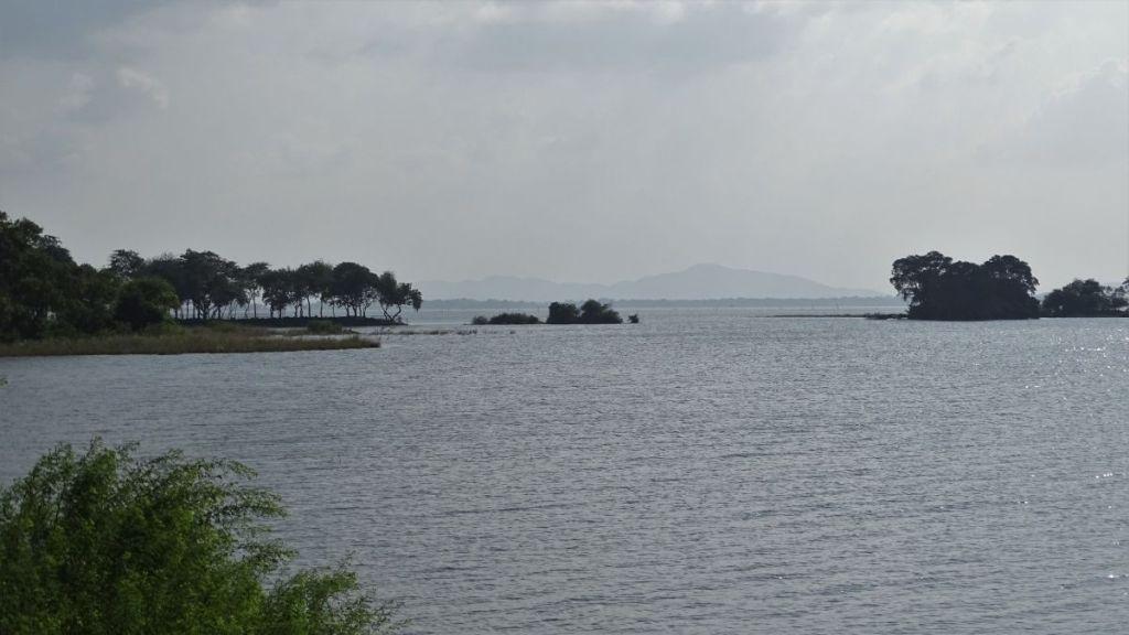 A large Parakrama Samudraya reservoir in Polonnaruwa