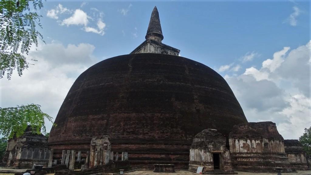 An enormous brick stupa at Polonnaruwa ancient city