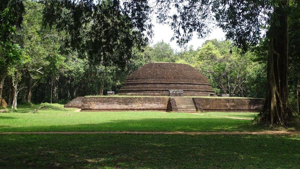 A brick stupa at the feet of Pidurangala