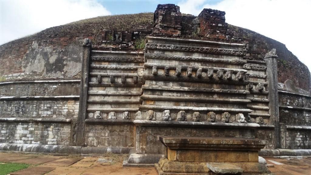 Brick Kantaka Chetiya stupa in Mihintale with four carved gates